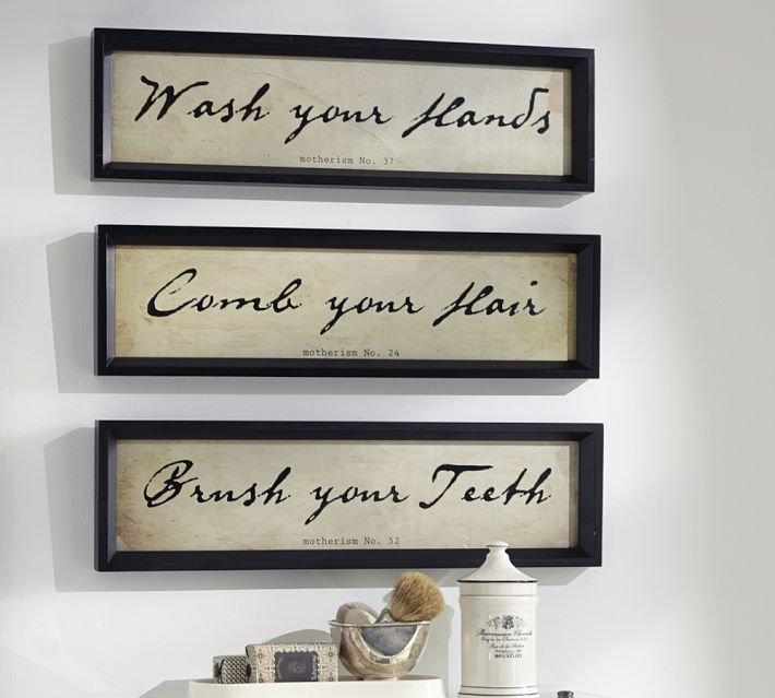 rule of three with bathroom art  Speakman Company