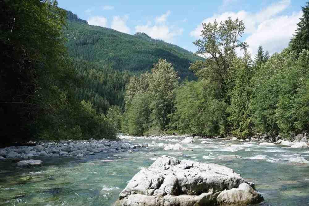 Mamquam river in Squamish