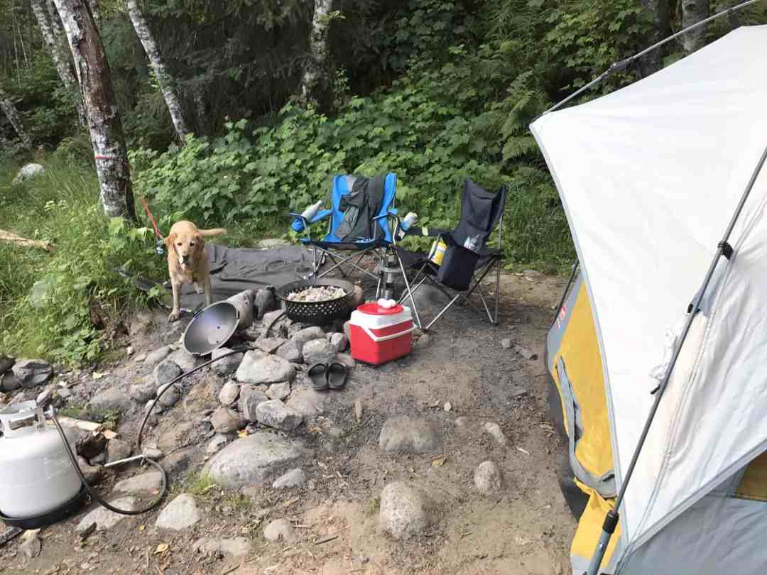 Weekend campsite in Squamish