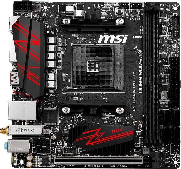 MSI B450I GAMING Plus AC Mini ITX motherboard