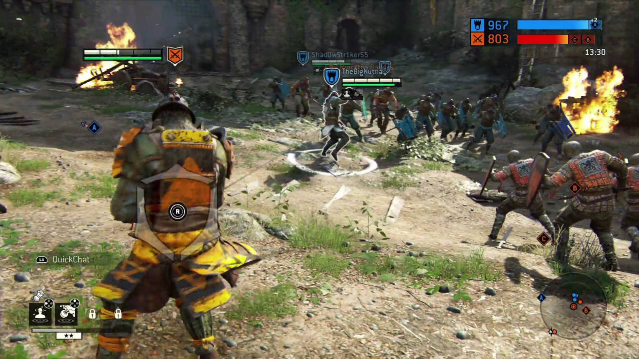 Vista del campo de batalla en For Honor