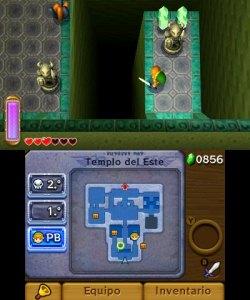 La pantalla táctil se usa para lo justo, mapa y selección de objetos.