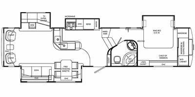 Full Specs for 2009 Holiday Rambler Alumascape Suite 36RLQ