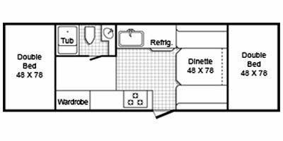 Full Specs for 2010 TrailManor Folding Hardwall 2619 RVs