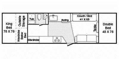 Full Specs for 2010 TrailManor Folding Hardwall 3124KB RVs