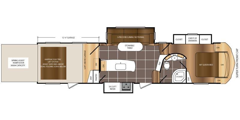 Travel Trailer Spartan Floor Plan