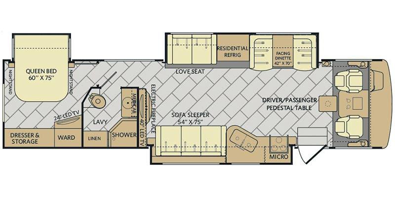 1995 Fleetwood Bounder Floor Plans