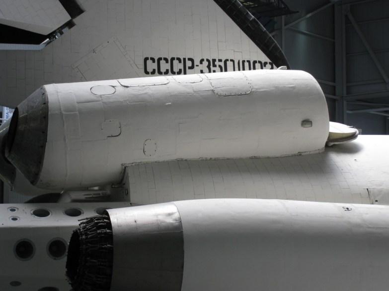 Rysk rymdfärja. Fantastiskt att man kan åka ut i rymden med en sådan här skapelse. Och framför allt komma hem igen.
