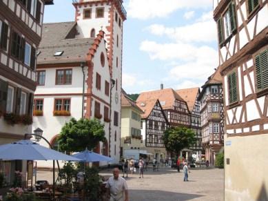 Några av oss gjorde också ett besök i Mosbach strax norr om Hassmersheim. Ännu en vacker korsvirkesstad.