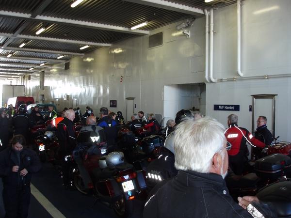 Ombord på färjan för 20 minuters färd till Helsingör