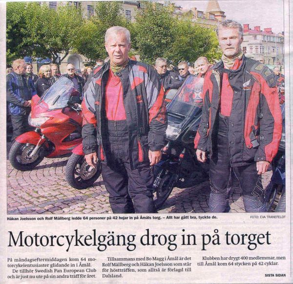 Pressen var också där vilket resulterade i ett reportage i Provinstidningen Dalsland