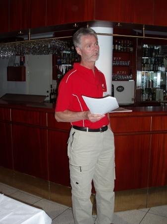 Rolf informerar om planerna för Japanresan och besök hos Honda nästa år.