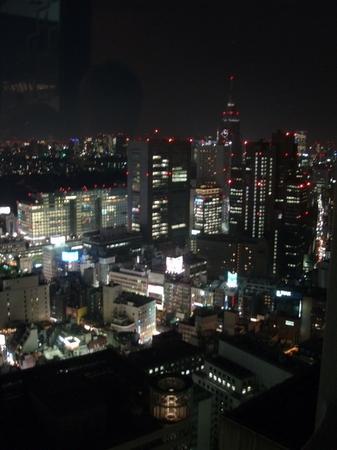 Utsikt över Tokyo by night från baren på 45 våningen.