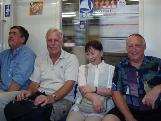 Tunnelbana i Tokyo på jakt efter en affär som sålde Global knifes till mycket bra pris.