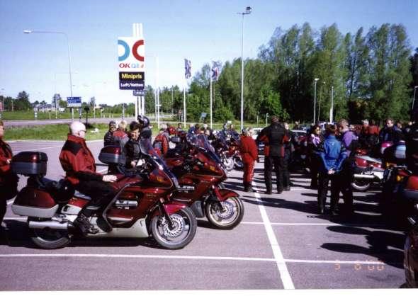 Uppstart lördag morgon utanför Borlänge Wärdshus för en tur runt Siljan.