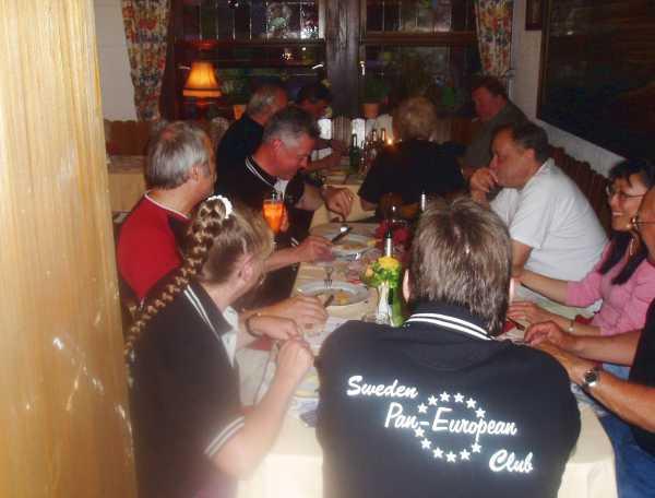 Dagarna ägnades åt lite olika aktiviteter men middagarna åt vi tillsammans varje kväll.