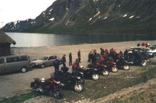Första stoppet, färjetur på Gjendesjön, ca 900m öh