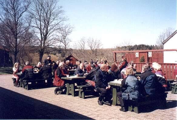 Fika vid Castelholms slott