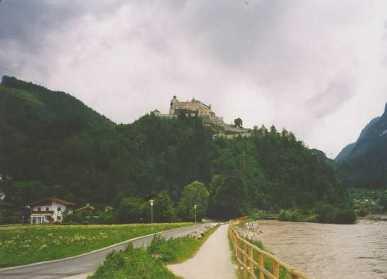 Detta lär vara slottet där man spelade in filmen Örnnästet