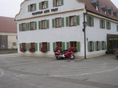 Hotell strax utanför Augsberg där vi övernattade