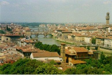 Utsikt över Florence från Michelangelo platsen