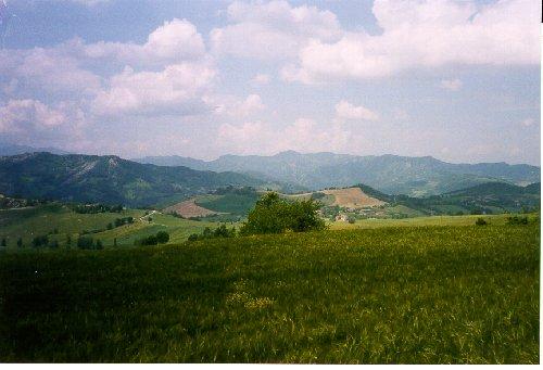 Utsikt över landskapet i Toscana