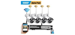 8 Channel Smonet 960P HD Wireless Network Security Camera System Kits