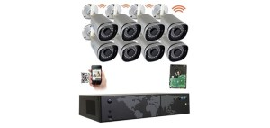 GW 8 Channel 5MP 1920P Network Wireless WiFi Security Camera System