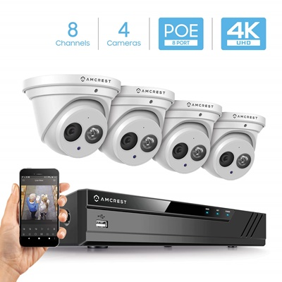 Amcrest 8 Channel with 4pcs Turret camera