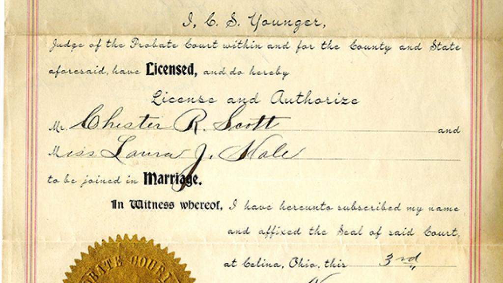 Nevada Marriage Certificate