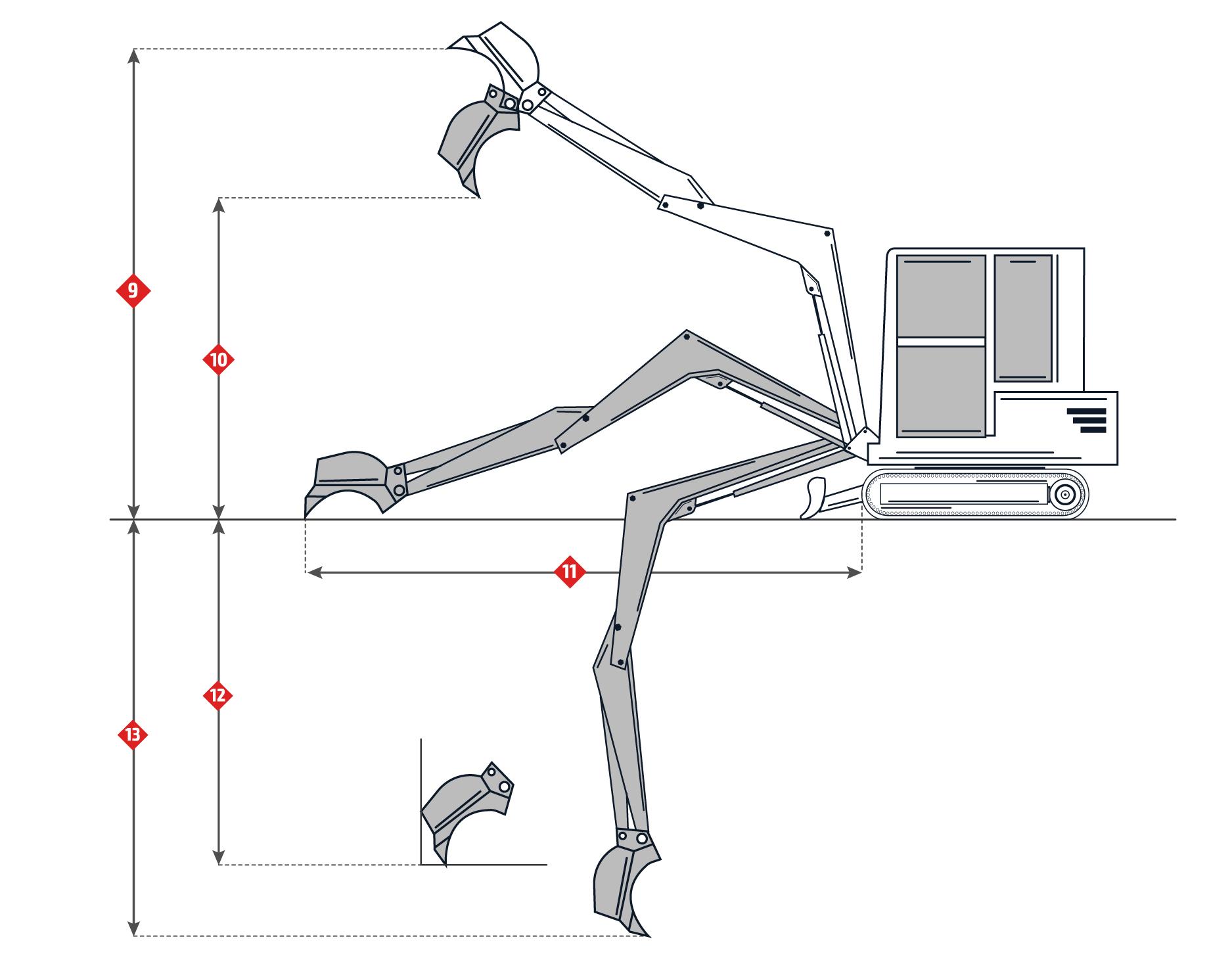 Komatsu PC50MR-2 Specifications. Medium-Sized Excavator.