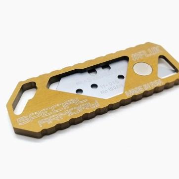 FLUK Frame Lock Utility Knife - dark Gold