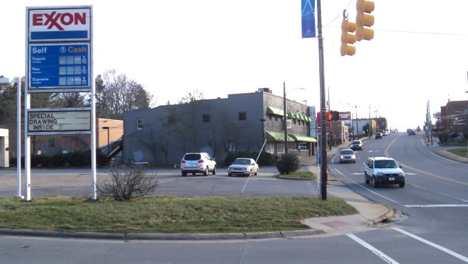 Merrimon Avenue at Ottari Road, February, 2016.