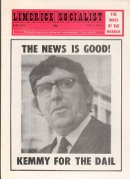 Front page of the 'Limerick Socialist' magazine, featuring Jim Kemmy