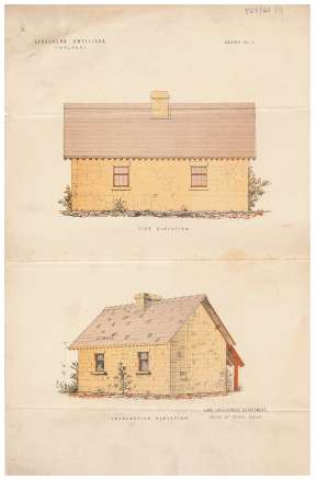Coloured sketches of a labourer's dwelling