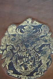 Close-up of the detail on the cover of F.17.48