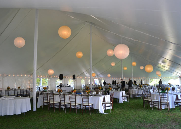 Decorative Tent Pole Cover Rentals  Tent Decorations