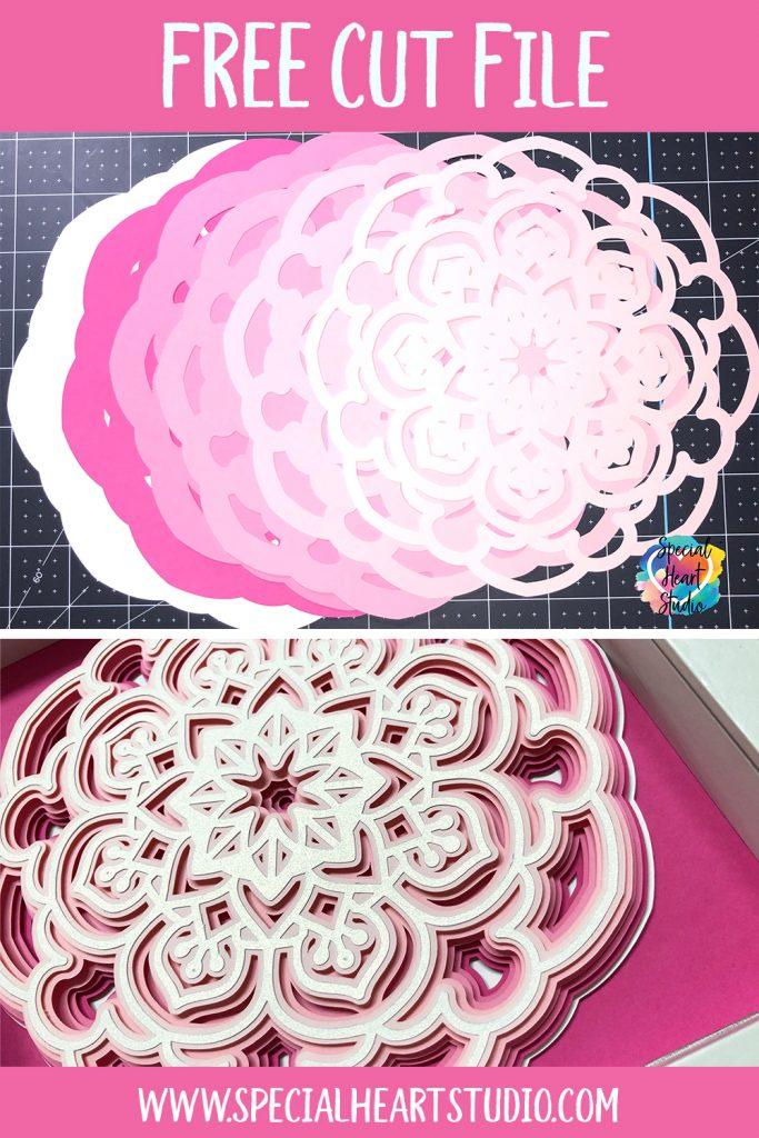 Free Layered Mandala Svg : layered, mandala, LAYERED, MANDALA, Special, Heart, Studio, Files,, Crafts