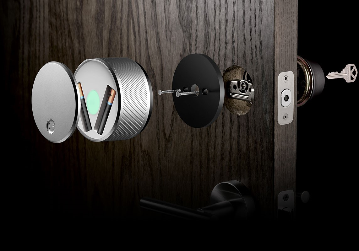 Another secure iPhone managed door lock
