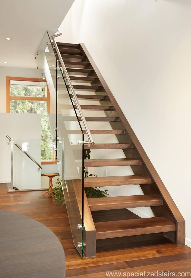 White Oak Open Rise Specialized Stair Rail | White Oak Stair Railing