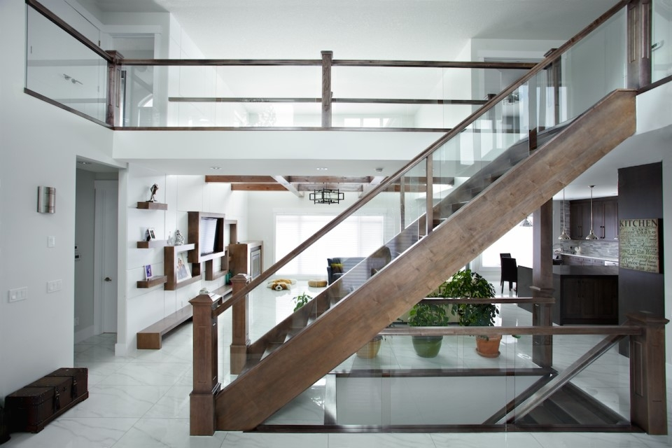 5 Things You Need To Know About Glass Railing Specialized Stair   Wood And Glass Staircase Railing   Tempered Glass   Glass Style Kerala   Rustic Glass Interior   Architectural Modern Wood Stair   Interior