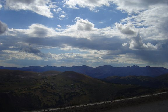 Driving on Trail Ridge Road in RMNP
