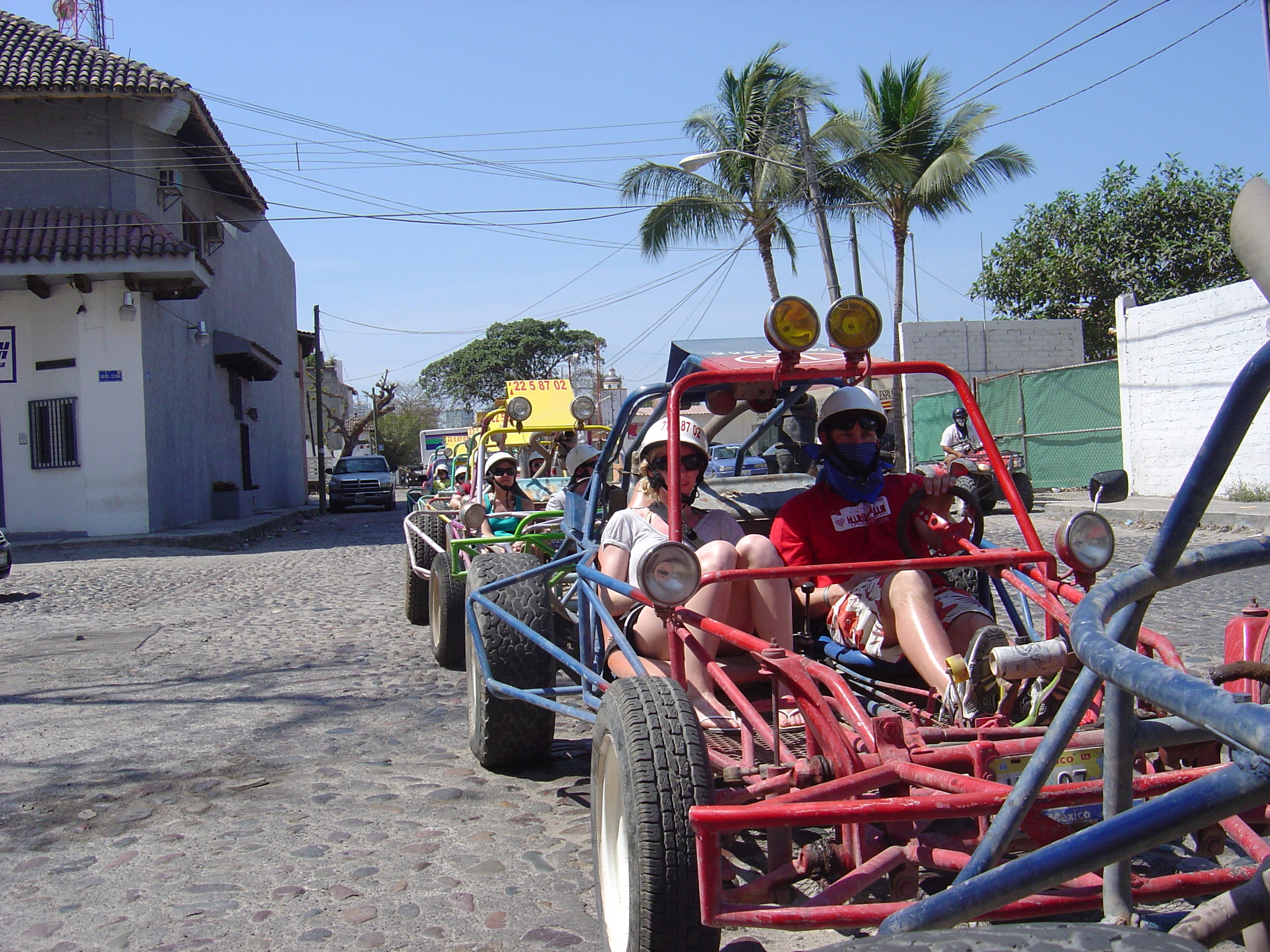 Jeremy and Jen when we were driving through the streets of Puerto Vallarta