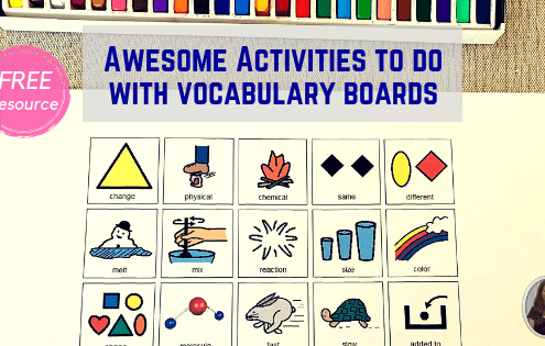 Vocabulary board