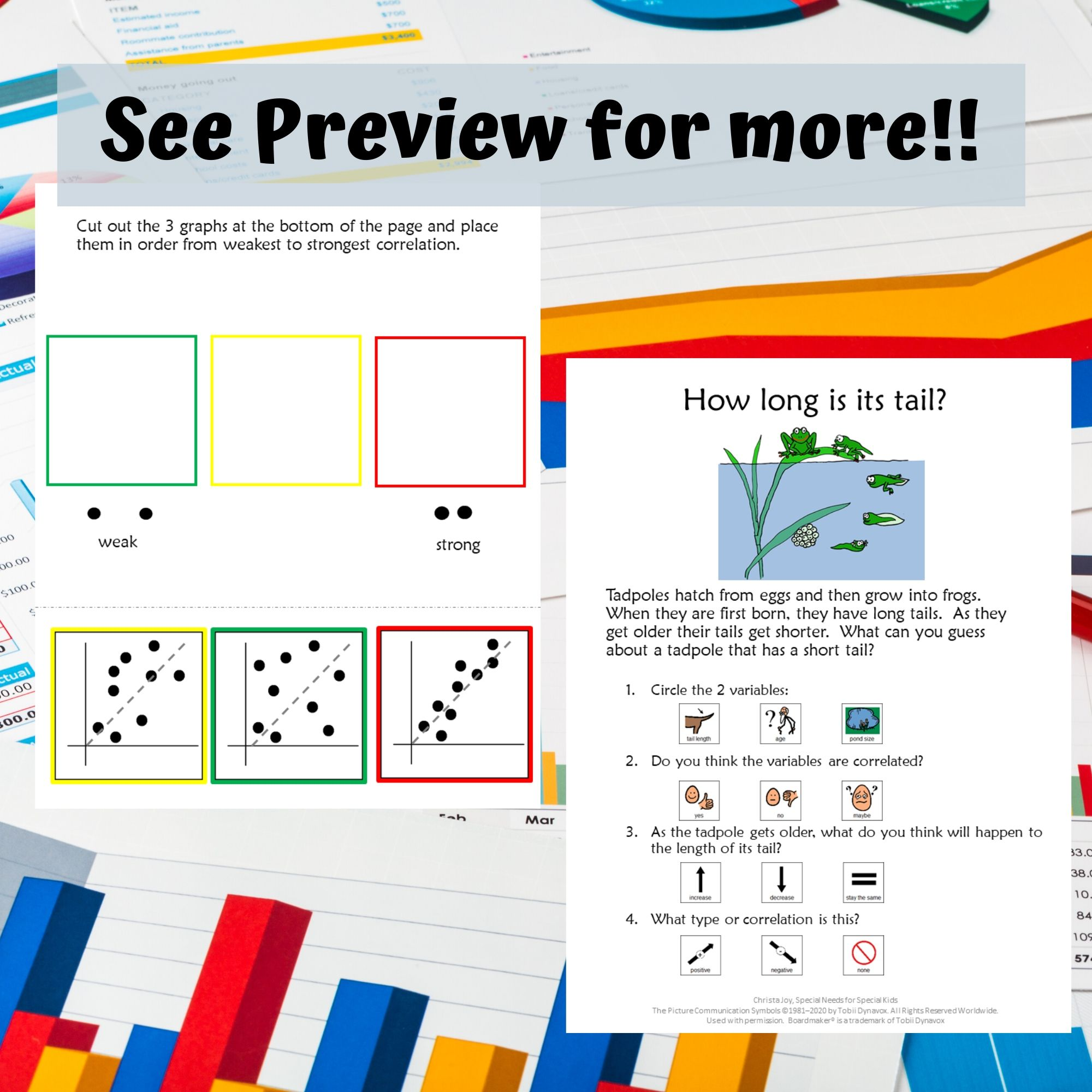 Scatter Plots For Special Education With Lesson Plans