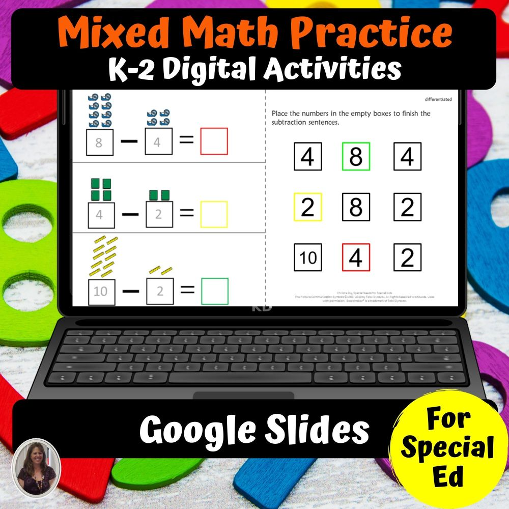 medium resolution of Math Digital Worksheets K-2 Special Ed for Google Classroom   Distance  Learning - Special Needs for Special Kids