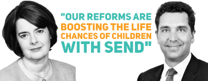 "Edward Timpson and Jane Ellison: ""Our reforms are boosting the life chances of children with SEND"""