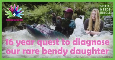 A 16 year quest to diagnose our rare bendy daughter