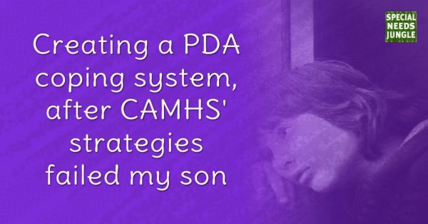 Creating PDA coping system after CAMHS' strategies failed my son