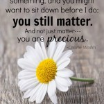Special Needs Parent, You Still Matter